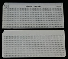 IBM punch card protector 1136340 with 2 unpunched cards