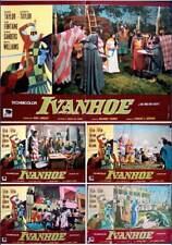 IVANHOE Italian fotobusta photobusta movie poster x5 R72 ELIZABETH TAYLOR ROBERT
