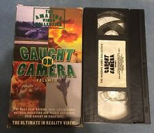CAUGHT ON CAMERA VOLUME 1 1996 VHS Realty Disasters Accidents Rescues Amazing