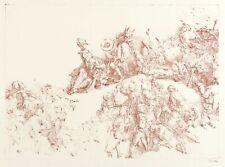 WERNER TÜBKE - PILATUS UND NARR - Lithografie in Braun 1981