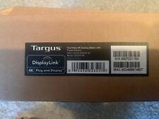 New listing Targus DisplayLink 4k Plug and Display Dual Video 4k Docking Station Dock180 New