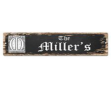SP0443 The MILLER'S Family name Sign Bar Store Shop Cafe Home Chic Decor Gift