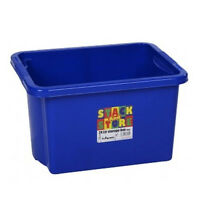 Stack&Store Stackable Strong Plastic Storage Boxes 24L Blue Toys Craft Tools