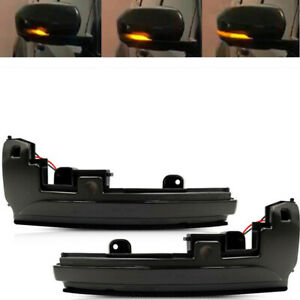 Black Turn Signal Light Mirror Indicator Light Yellow For Land Rover LR4 2014-16