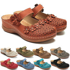 Womens Flower Mule Ladies Slippers Light Weight Wedge Casual Summer sandals