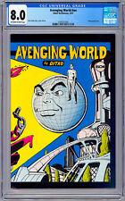 "STEVE DITKO'S ""AVENGING WORLD"" #NN CGC 8.0 RARE/HTF *STEVE DITKO ALT PRESS* 1973"
