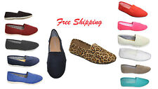 Women Canvas Slip-on Flats Nice and Comfortable Fit FREE SHIPPING GREAT PRICE