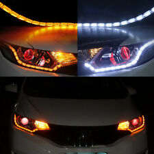 2 X Switchback Flowing LED Strip Light Sequential Signal Headlight Dual Color