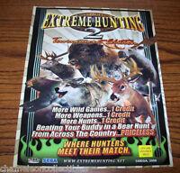 EXTREME HUNTING 2 By SEGA 2006 ORIG NOS VIDEO ARCADE GAME MACHINE PROMO FLYER
