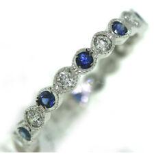 Diamond and Blue Sapphire Eternity Band by Coast