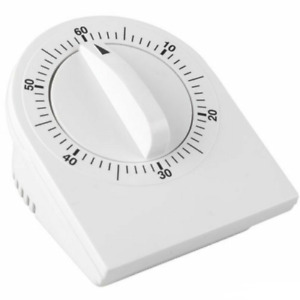 Mechanical Wind Up 60 Minute Kitchen Cooking Timer - NO BATTERY NEEDED