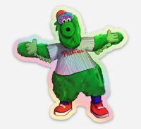 Phillie Phanatic HOLOGRAPHIC STICKER - MLB Vinyl Philadelphia Phillies Die Cut