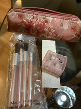 Mary Kay BEAUTY FIX KIT Case, Brushes, Mirror, Sharpener, Tweezers NEW