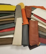 Premium Italian Cowhide Leather Scrap upholstery - 1 lbs Large Size Pieces