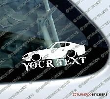 Custom YOUR TEXT Lowered car sticker - for Nissan Datsun 240z / fairlady Z