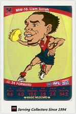 2011 AFL Teamcoach Cards Magic Wild Card MW10 Liam Jurrah (Melbourne)