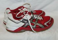 Asics Women's Shoes Gel-Rocket Athletic White Red  Lace Up BN853 Size 9