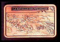 ★ MAGNIFIQUE LINGOT PLAQUE CUIVRE ● NAPOLEON ● LA BATAILLE DES PYRAMIDES ★★