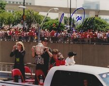 LUC ROBITAILLE Signed DETROIT RED WINGS - 2002 CUP 8X10 Photo w/COA #3