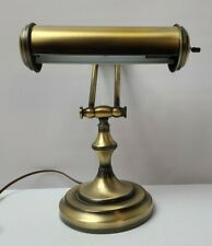 VIntage Brass Finish Bankers Piano Lamp Articulating Adjustable  Desktop Lamp