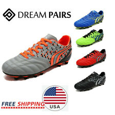 DREAM PAIRS Men's Soccer Shoes Athletic Lace Up Outdoor Football Soccer Cleats