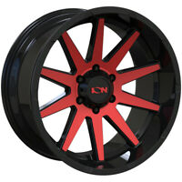 "Ion 143 20x9 6x135 +0mm Black/Red Wheel Rim 20"" Inch"