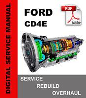 Ford Mercury CD4E Transmission Service Repair Rebuild Overhaul Manual