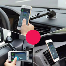 Car Magnetic Suction Mount Holder Pad w/Long Arm For iPhone Samsung Galaxy S7/S8
