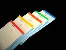 5 x Order Pads Book Single Sheet 1-100 Assorted Colour Waiter Restaurant Ticket