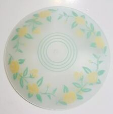 "Vintage Ceiling Pendant Lamp Shade Yellow Roses Frosted Cottage Chic 13"" Across"