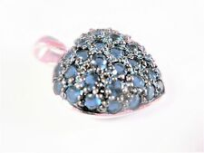 Heart Pendant Silver 925 With Blue Stones