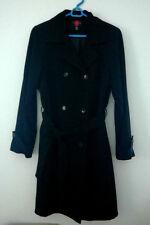 BEAUTIFUL GALLERY DOUBLE BREASTED BLACK LT-WEIGHT DRESS COAT WOMEN'S SIZE MEDIUM