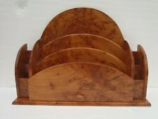 BEAUTIFULLY HAND MADE ~ RARE THUYA WOOD ~ LETTER RACK ~ ART DECO STYLE