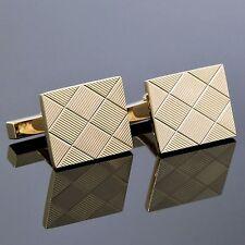 Tiffany & Co. 14K Yellow Gold Rectangle Bar Cufflinks