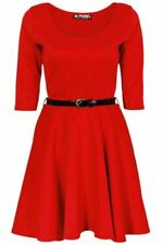 Vestidos de niña de 2 a 16 años de manga corta en rojo
