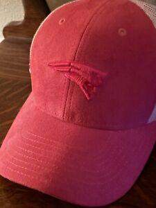 Reebok New England Patriots Basic Logo Slouch Cap Hat Adjustable Pink Womens