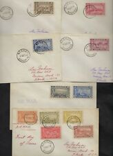 BAHAMAS 1948 TERCENTENARY OF SETTLEMENT ISSUE W/ KING GEORGE VI NINE COVERS FDC