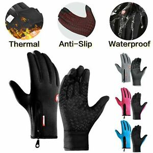 Bike Cycling Gloves Touch Waterproof Full Finger Winter Fitness Delivery Warehou
