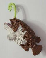 """ANIMAL FIGURE SEA LIFE ANGLER FISH 3.5"""" LONG BROWN & GREEN"""
