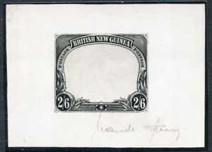 BRITISH NEW GUINEA (25064): b/w photograph of SPERATI signed Die Proof