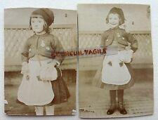 2 PHOTOS ENFANT FILLE EN COSTUME DE MADELON BONNET PHRYGIEN  O365