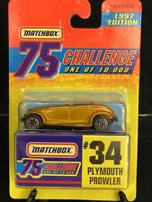 PLYMOUTH PROWLER MATCHBOX 1997 GOLD 75 CHALLENGE #34 LIMITED EDT 1/10000