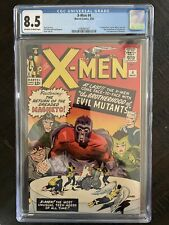 X-Men #4 - First Scarlet Witch & Quicksilver!  CGC 8.5!