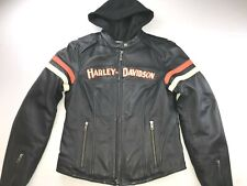 HARLEY DAVIDSON WOMEN MISS ENTHUSIAST 3-IN-1 LEATHER JACKET 98142-09VW MEDIUM