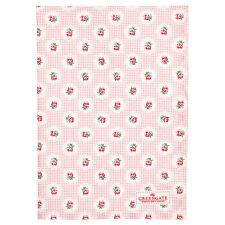 GreenGate DK Tammie Pale Pink Tea Towel