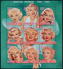 Chad 727 MNH Marilyn Monroe, Music, Movies