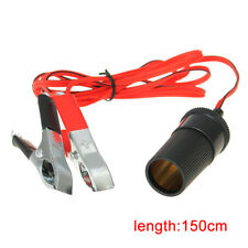 1x New Universal Battery Clip Cigarette Lighter Socket Red And Black Superior