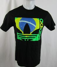 Brazil Men's Black Adidas T-Shirt
