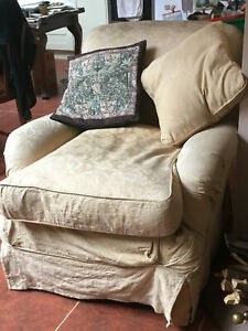 Tetrad single-seater armchair, used. Washable loose covers, spare set inc.
