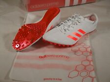 New Mens Adidas Adizero Prime SP Sprint Track Field Spikes Shoes 11.5 Bag BB4117